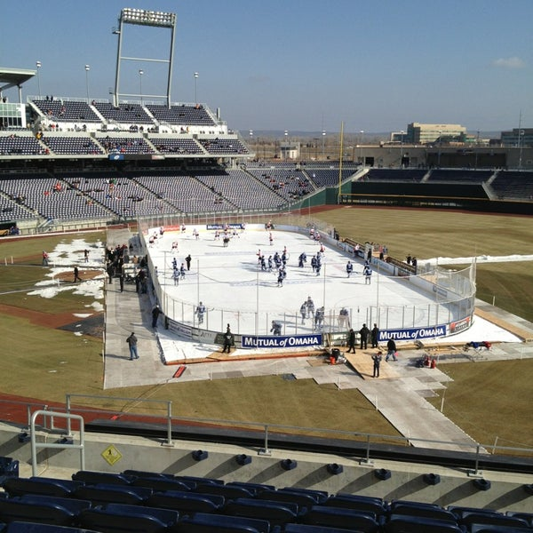 Photo taken at TD Ameritrade Park by Dave S. on 2/9/2013