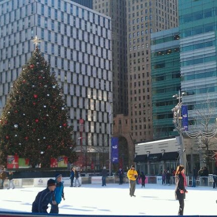 Photo taken at Campus Martius by Aaron C. on 12/24/2011