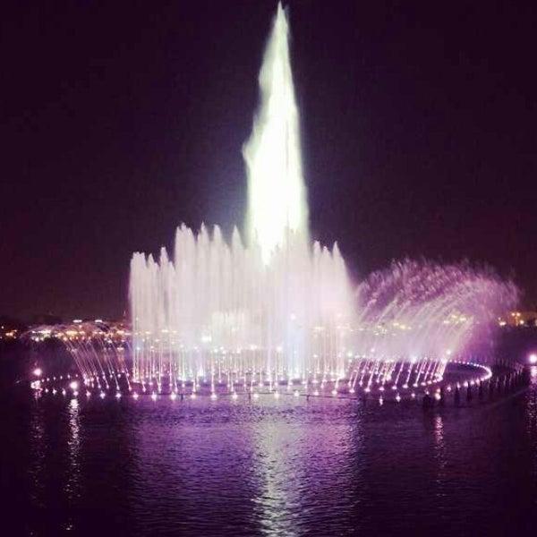 Photo taken at King Abdullah Park by Ghaidaa S. on 10/3/2013