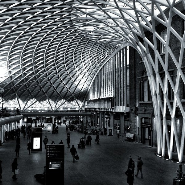 Photo taken at London St Pancras International Railway Station (STP) by Chris K. on 2/4/2013