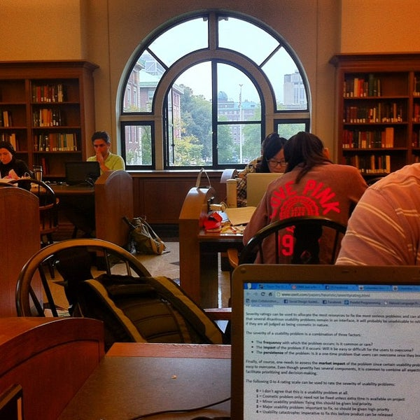 Photo taken at Butler Library by Jose C. on 10/4/2012