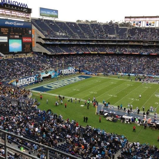 Photo taken at Qualcomm Stadium by Galo G. on 12/18/2012
