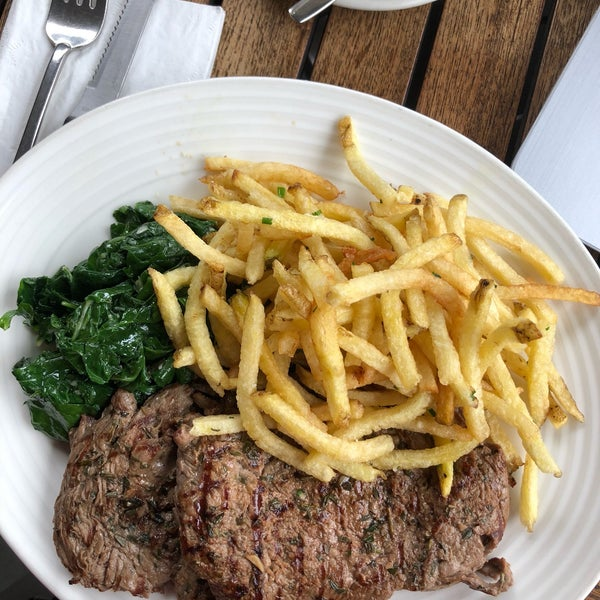 The fillet steak with shoestring fries are amazing