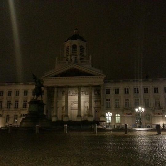 Photo taken at Paleizenplein / Place des Palais by Med.Reda R. on 12/21/2012