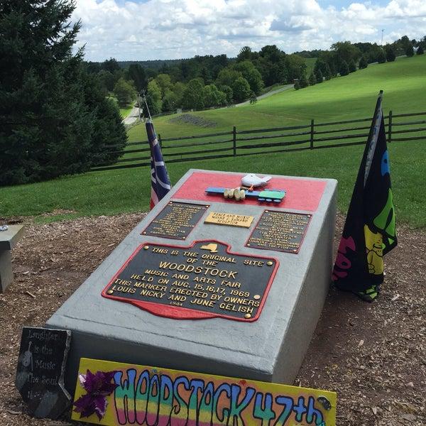 Photo taken at Woodstock Festival Concert Site/Monument by Kara Ann B. on 8/14/2016