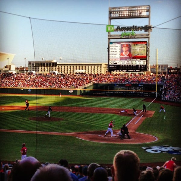 Photo taken at TD Ameritrade Park by Justin M. on 6/20/2013