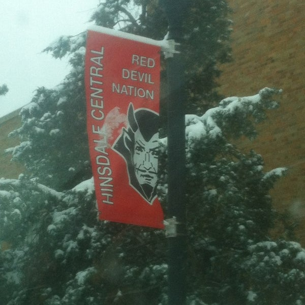 Photo taken at Hinsdale Central High School by Jenny at D. on 1/5/2014