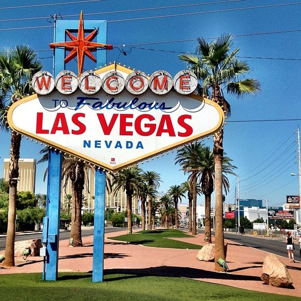 Photo taken at Welcome To Fabulous Las Vegas Sign by Mervin M. on 9/16/2012