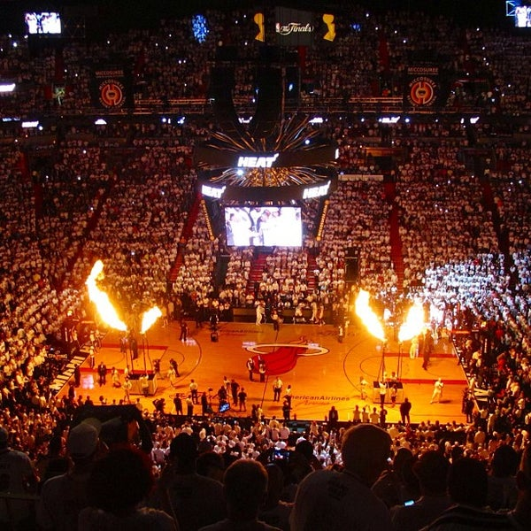 Photo taken at American Airlines Arena by Gleb R. on 6/19/2013