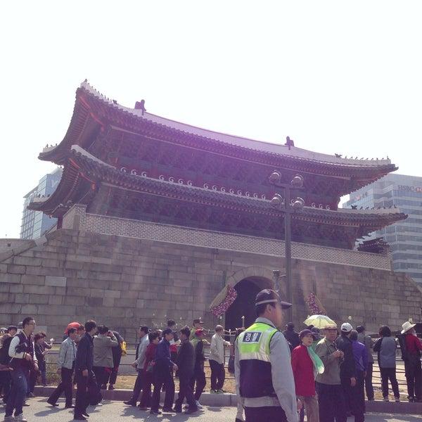 Photo taken at Sungnyemun by Kiwoong K. on 5/4/2013