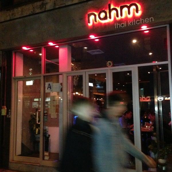 Photo taken at Nahm Thai Kitchen by Mario M. on 4/20/2013