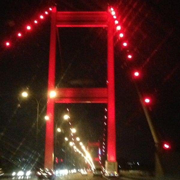 Photo taken at Fatih Sultan Mehmet Bridge by Meltem G. on 7/21/2013