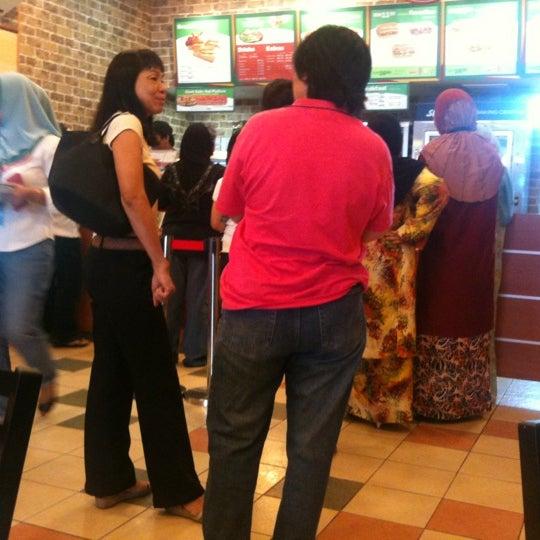 Photo taken at Subway by tiemosh c. on 10/5/2012