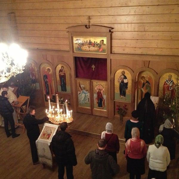 Photo taken at Храм святого Николая Чудотворца by Nika A. on 1/6/2013