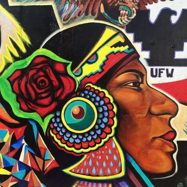Photo taken at Chicano Park by Alex F. on 4/27/2014