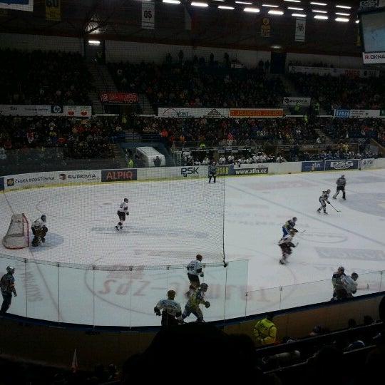 Photo taken at Zimní stadion Luďka Čajky by Tomáš R. on 2/13/2013