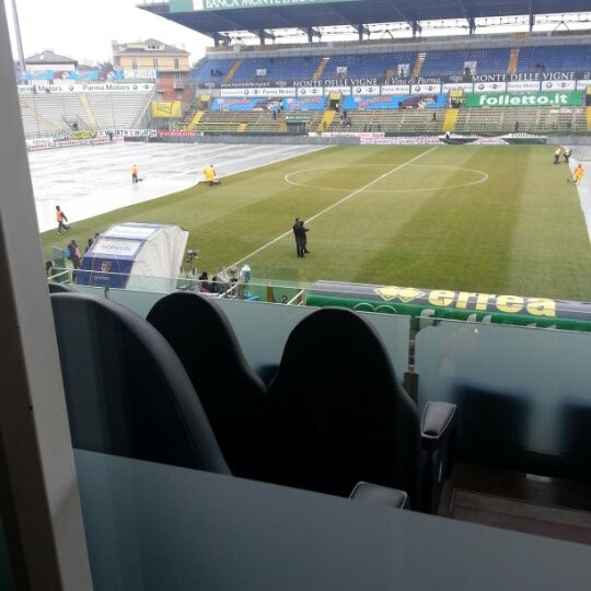 Photo taken at Stadio Ennio Tardini by Flavio P. on 1/13/2013