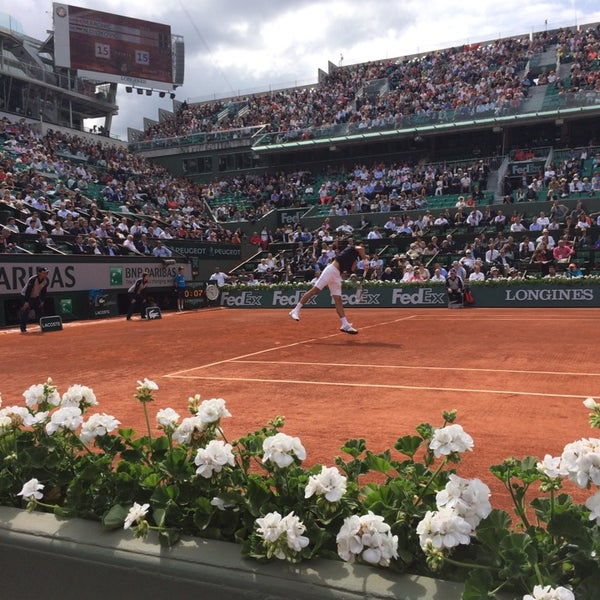 Photo taken at Stade Roland Garros by Vianney S. on 6/3/2014