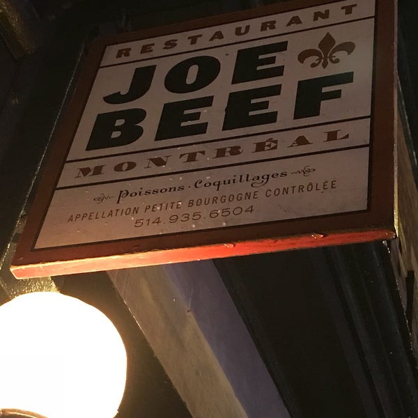 Photo taken at Joe Beef by Brandon B. on 11/3/2017