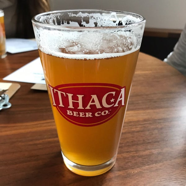 Photo taken at Ithaca Beer Co. Taproom by Brock B. on 2/18/2018