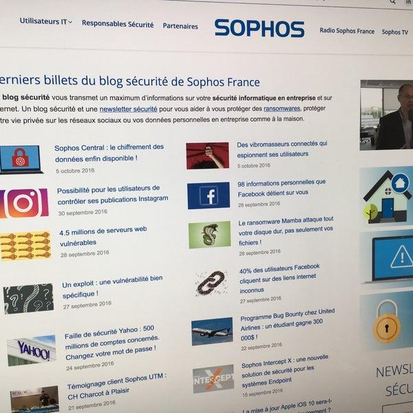 Foto scattata a Sophos France da Jérôme V. il 10/17/2016