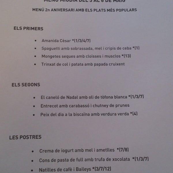 Molt bon menú de migdia per 12 eurets! I són catalans tu! Visca!