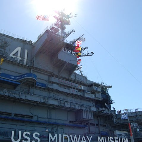 Photo taken at USS Midway Museum by Simon H. on 9/26/2012