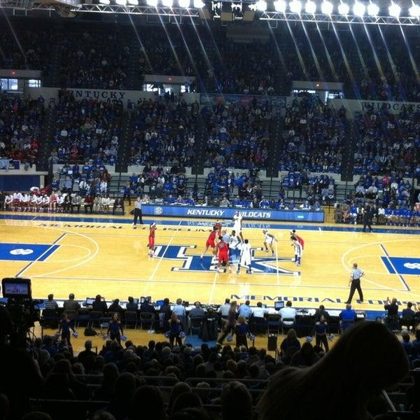 Photo taken at Memorial Coliseum by Amanda F. on 2/3/2013