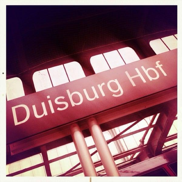 Photo taken at Duisburg Hauptbahnhof by Myriam K. on 7/14/2013
