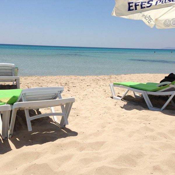 Photo taken at Ramo Beach by Emre G. on 6/17/2013