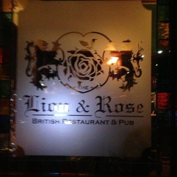 Photo taken at The Lion & Rose British Restaurant & Pub by LLCoolShaun on 2/2/2013