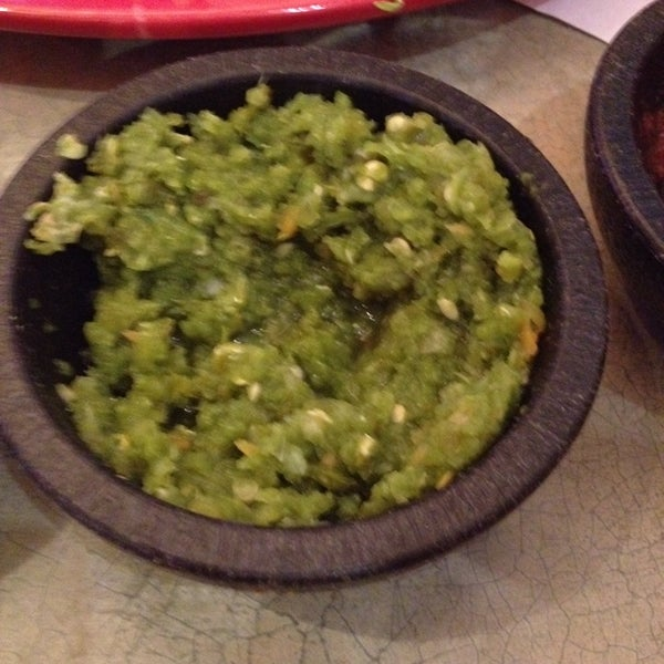 If you want some spicy salsa ask for the salsa verde!