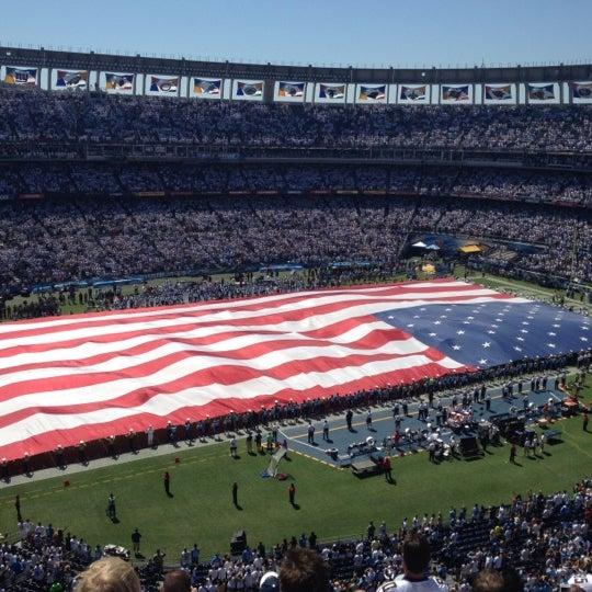 Photo taken at Qualcomm Stadium by Garrett M. on 9/16/2012