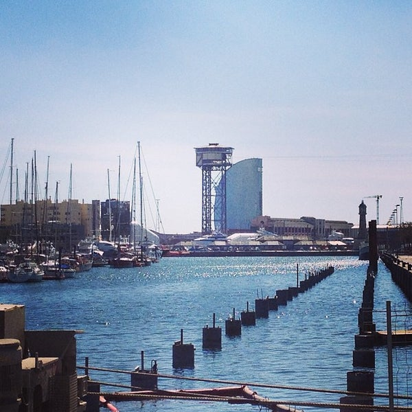 Photo taken at OneOcean Port Vell Barcelona by Marina P. on 3/22/2013