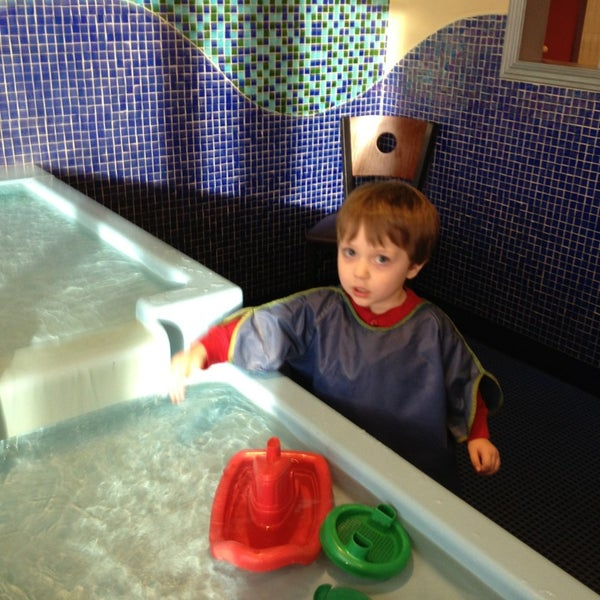 Make sure you take your kids shoes an socks off in the water table room!