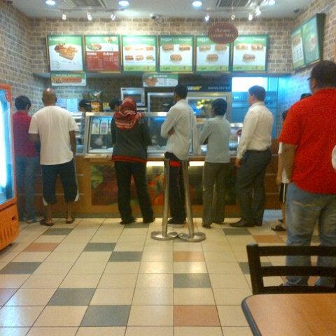 Photo taken at Subway by roslina k. on 11/5/2012
