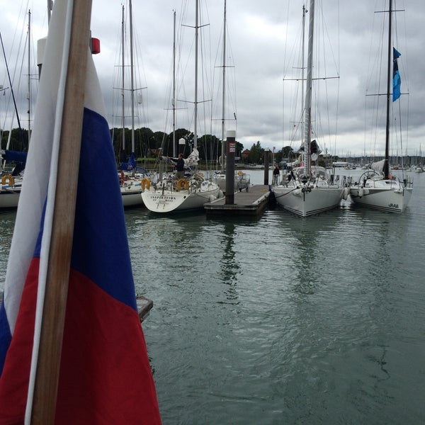 Photo taken at Hamble Point Marina by Trtt on 8/14/2015
