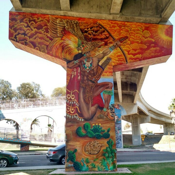 Photo taken at Chicano Park by Karo G. on 7/4/2015