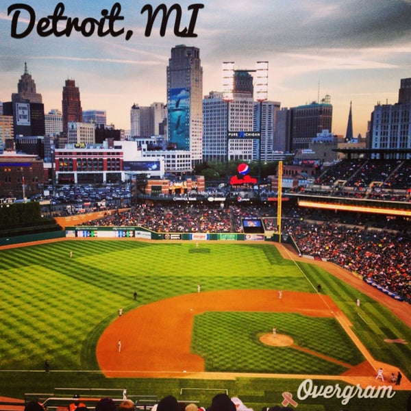 Photo taken at Comerica Park by Tracy M. on 5/14/2013
