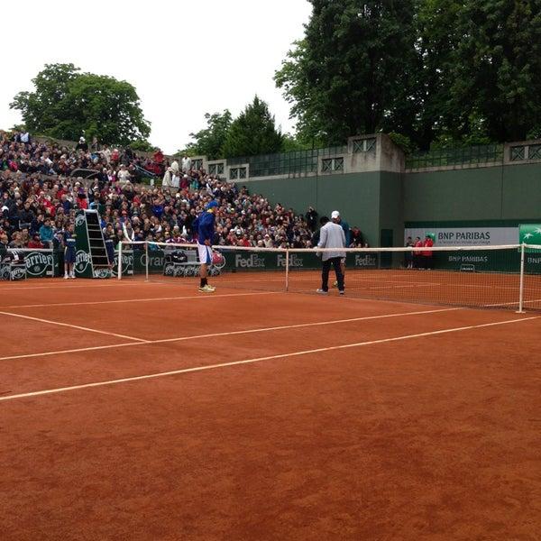 Photo taken at Stade Roland Garros by Louis V. on 5/31/2013