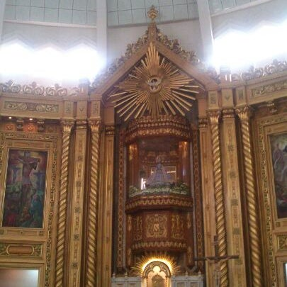 Photo taken at National Shrine of Our Lady of Peace and Good Voyage (Antipolo Cathedral) by Robin S. on 3/24/2013