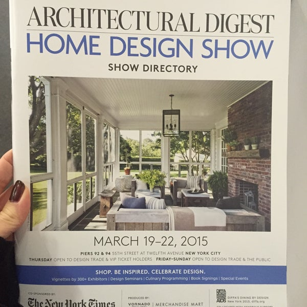 Photo Taken At Architectural Digest Home Design Show By Emilie V. On 3/22