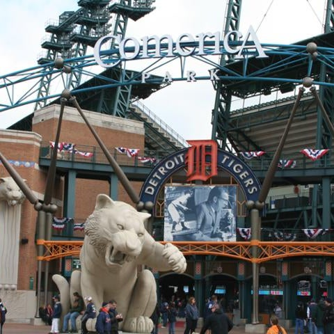 Photo taken at Comerica Park by Stadium Journey on 6/29/2013