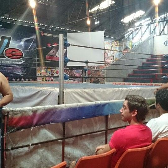 Photo taken at Arena Adolfo Lopez Mateos by Daniel P. on 4/12/2014