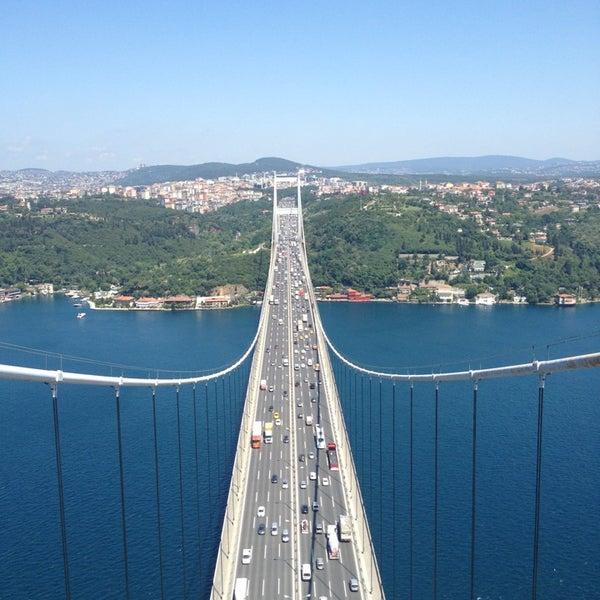 Photo taken at Fatih Sultan Mehmet Bridge by sonnefess on 6/26/2013
