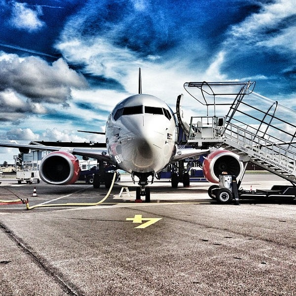 Photo taken at Ängelholm-Helsingborg Airport (AGH) by Mikael T. on 9/3/2013