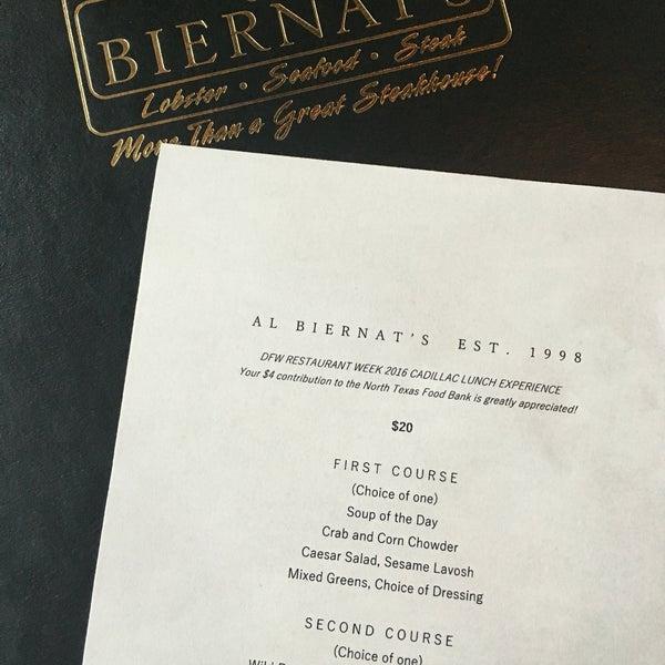 Photo taken at Al Biernat's Prime Steak & Seafood by Betty L. on 8/17/2016