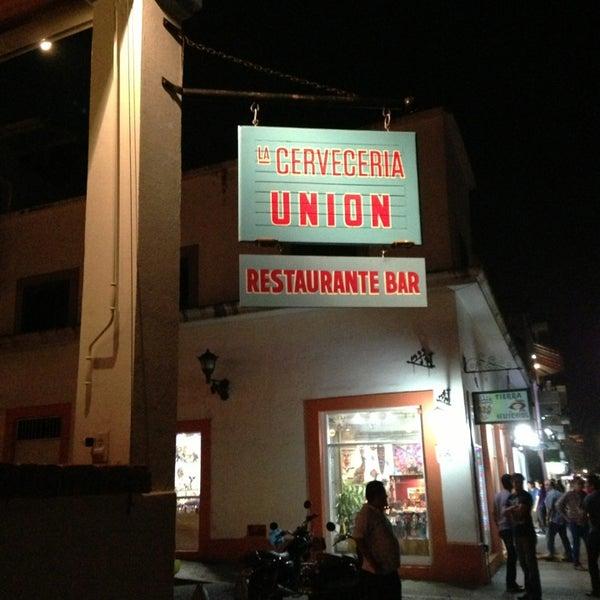 Photo taken at La Cerveceria Union by Ponch T. on 3/28/2013