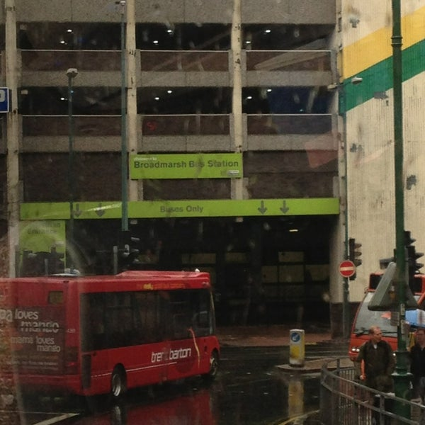 Photo taken at Broadmarsh Bus Station by Rony d. on 3/16/2013