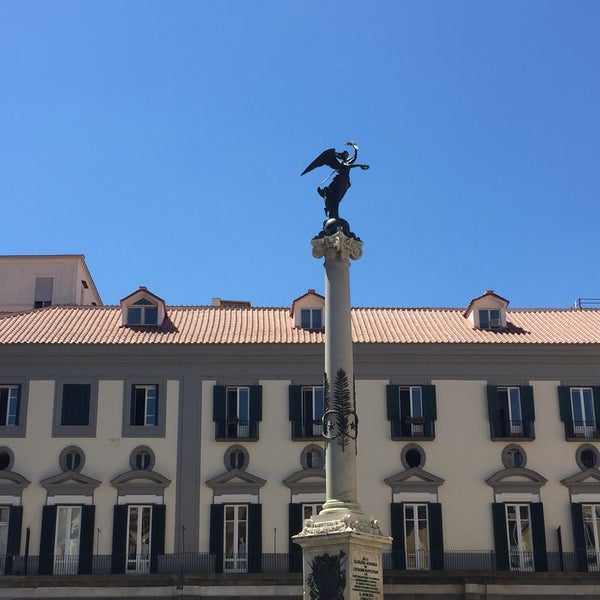 Photo taken at Piazza dei Martiri by Basak H. on 7/18/2016